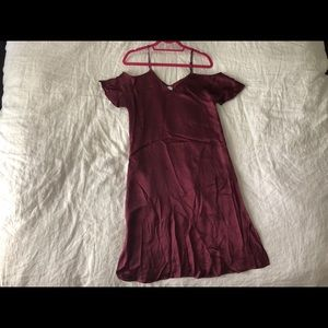 Off the shoulder silky aritzia dress